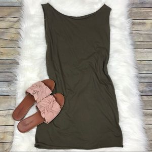 American Apparel Fine Jersey T Dress army Green s